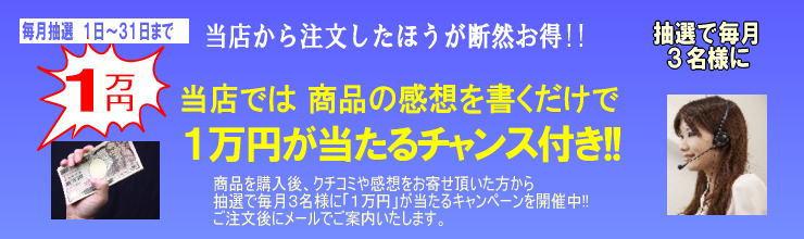 抽選で一万円プレゼント キャンペーン